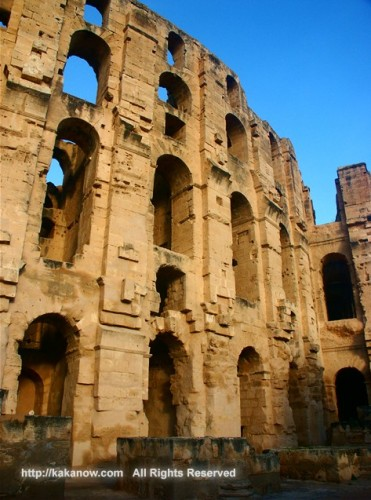 El Djem Amphitheatre is the second biggest amphitheatre in the world.