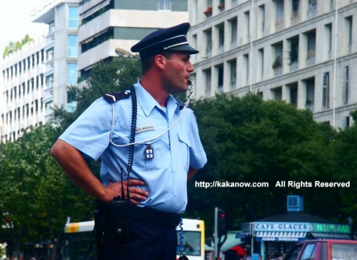 France police is nice. This is policeman in Marseille, southern France.