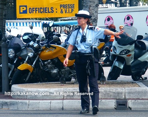 France police is nice. France Police Women in Marseille, southern France.