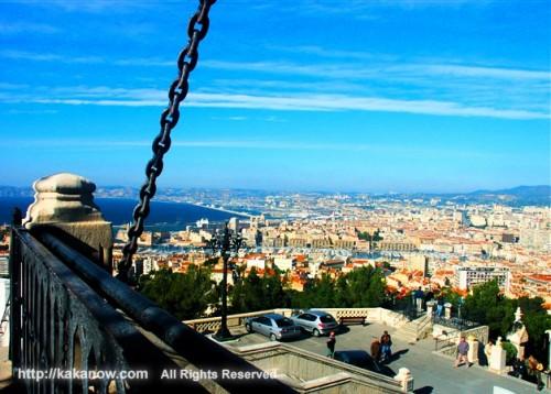 Marseille, city in summer