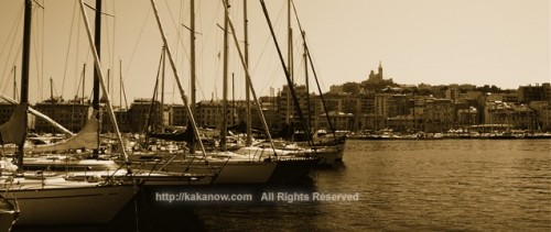 Old port of Marseille, southern France, 2009