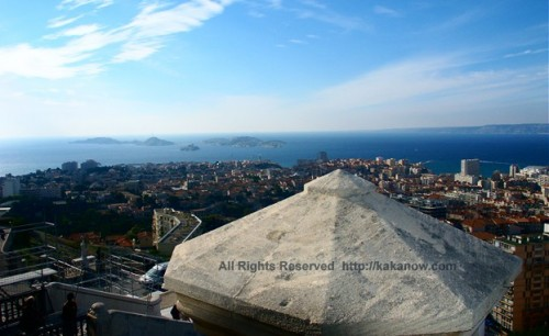 Bird's-eye view of Marseille city, southern France
