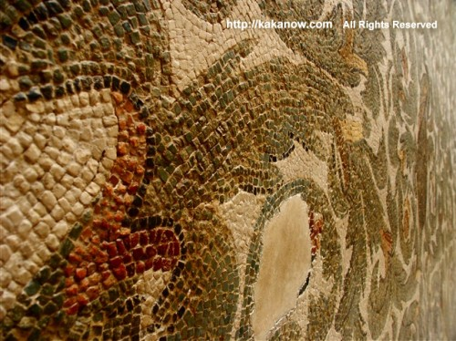 Roman mosaic wall in museum, Tunisia, North Africa, Photo by kaka