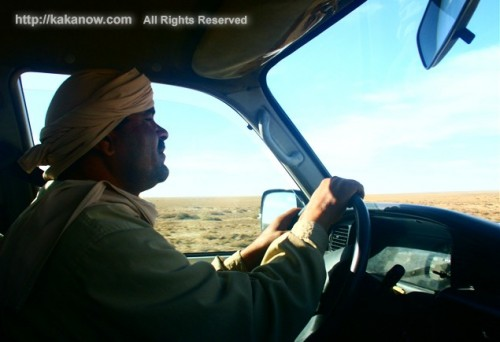 With our Arabic 4X4 driver, we go to the Sahara Desert, Tunis, North Africa