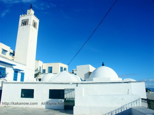 Sidi-Bou-Said is a blue and white town in Tunisia, Mediterranean coast, North Africa