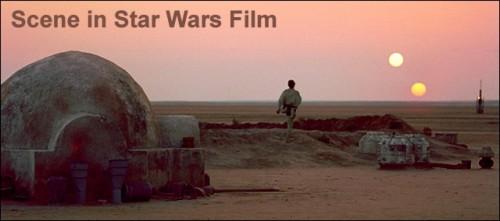 Star Wars Film Scene
