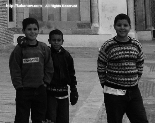 children out of a mosque, Tunisia, North Africa