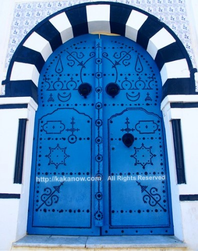 Traditional style door at the capital of Tunisia, Tunis