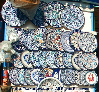 Tunisia handwork paint plates, traditional decorative pattern