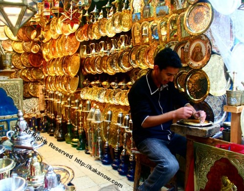 Store sales handwork brass plates, the capital of Tunisia,Tunis