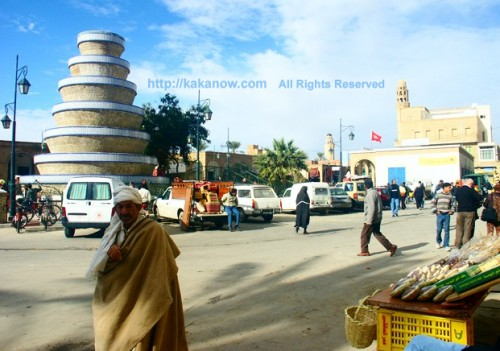 A square in front of a market, Tunisia, North Africa