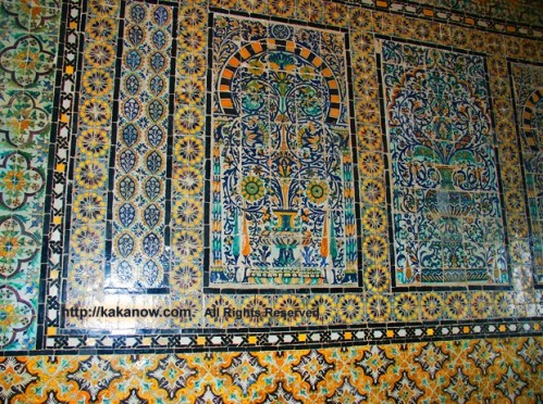 Islamic  style tiles wall in mosque, Tunisia, North Africa, Photo by kaka