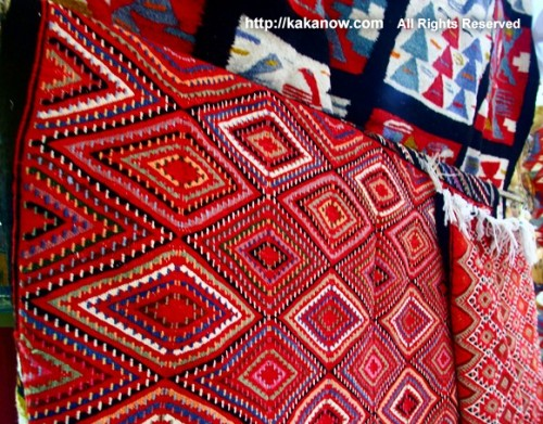 Traditional handwork wool blanket belle-belle, Tunisia, North Africa, Photo by kaka