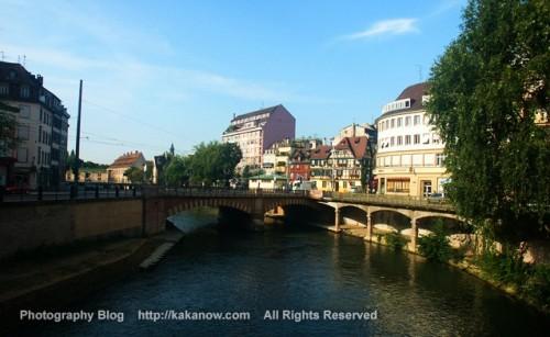 River in the Strasbourg city, France, Photo by KaKa