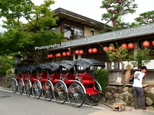 Rickshaw at Arashiyama, Kyoto, Japan. Photo by kaka. http://kakanow.com