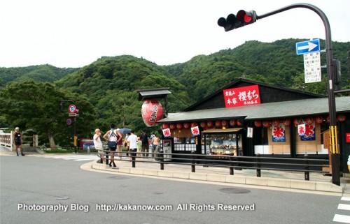 Japanese style shop street at Arashiyama. Kyoto, Japan. Photo by kaka. http://kakanow.com