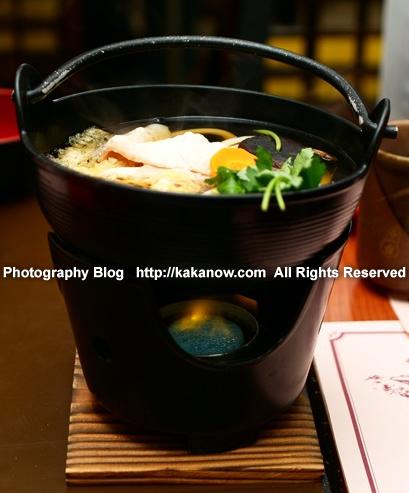 Japanese hot pot set lunch at Nara Park Todaiji Temple. Japan, Nara, Photo by KaKa.