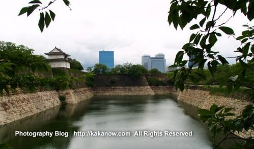 The majestic city wall and fosse of the Osaka Castle. Japan, Osaka, Photo by KaKa
