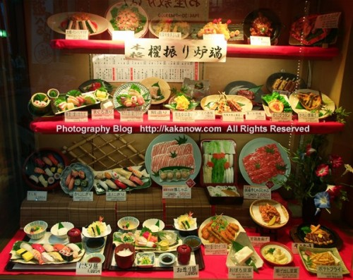 Restaurant window displays at Dotonbori in Osaka, Japan. Photo by KaKa, http://kakanow.com