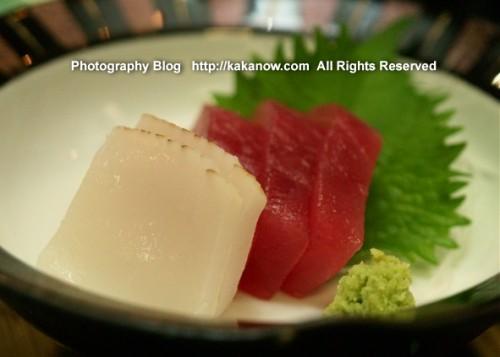 Japanese sahshimi set supper at Lake Kawaguchi. Japan, Mount Fuji, Photo by KaKa.