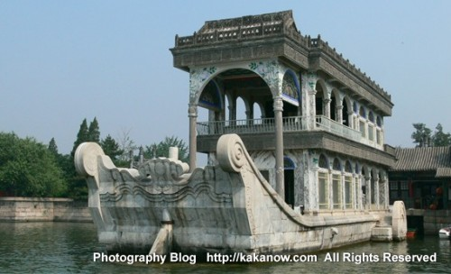 Stone ship in the summer palace in Beijing, China. Photo by KaKa.