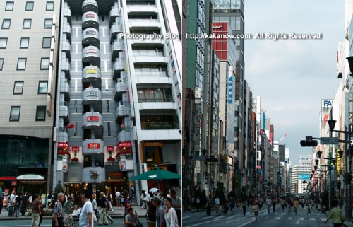 Japan Tokyo Ginza shopping street. Summer Tour in Japan, Photo by KaKa.