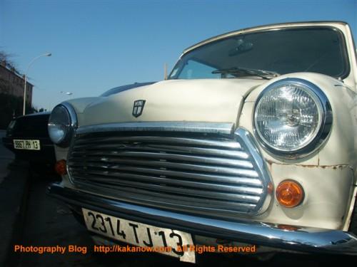 Classic cars MINI white color, France Marseille, Photo by KaKa.