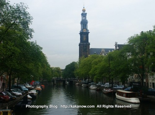 Canal in Amsterdam. The Netherland travel. Photo by kaka.