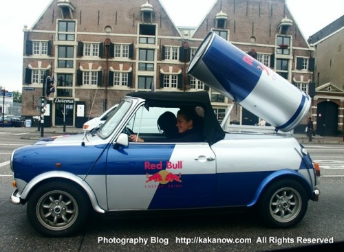 Car advertising in Amsterdam. Netherland travel. Photo by KaKa.