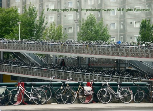 Holland is a bicycles' country. Netherlands(Holland) travel, Amsterdam street. Photo by kaka.
