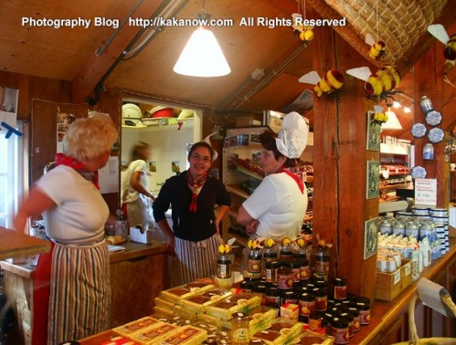 A honey and bee products store in the Holland Windmill Village. The Netherlands car travel.  Photo by kaka.