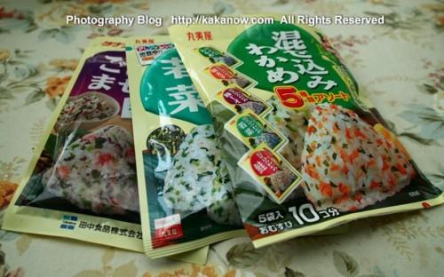 Onigiri (rice ball) condiment 100 Japanese Yen. Japan travel, Tokyo. Photo by KaKa.