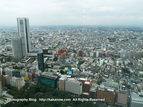 At the top of the municipal government building in Tokyo. Japan Tour, Tokyo Panorama. Photo by KaKa.