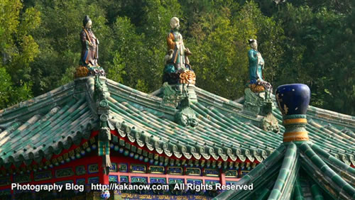 Foxiangge pavilion, in Yiheyuan(the summer palace), Beijing, China. Photo by kaka.