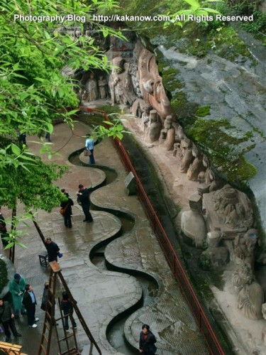 China travel, Chongqing Dazu Cliff Rock Carvings, Baoding Mountain. Photo by KaKa.