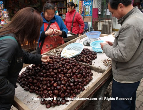 "China travel, Chongqing, the vegetable is ""sweet water chestnut"". Photo by KaKa."