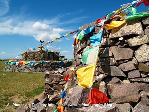 China travel, Inner Mongolia, Horqin Prairie, Obo. Photo by KaKa.