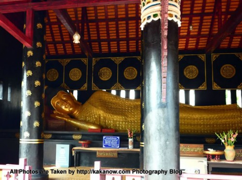 Thailand travel, Chiang Mai, Wat Chedi Luang Temple. This is a magnificent large temple. Reclining Buddha. Photo by KaKa.