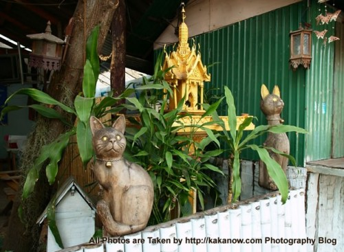 Thailand travel, Chiang Mai, a private garden decoration. Photo by KaKa.