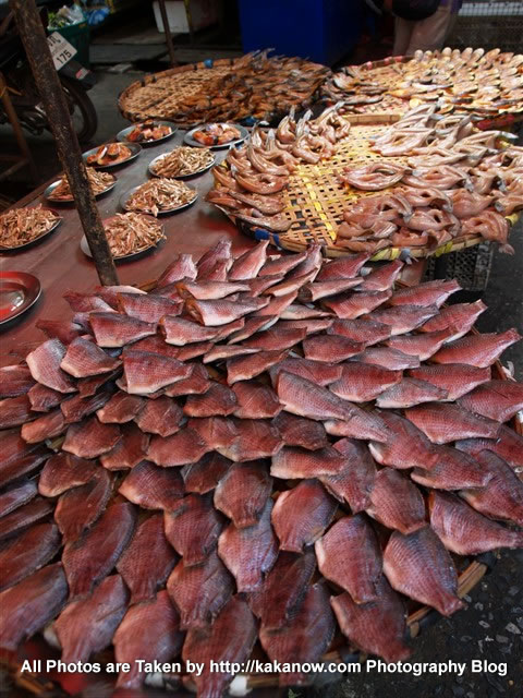 Thailand travel, Ayutthaya, Traditional market, Dried Fish. Photo by KaKa.