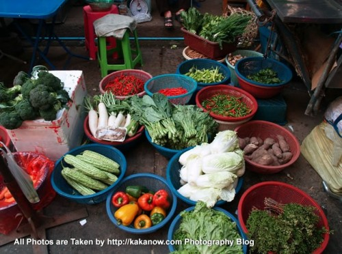 Thailand travel, Ayutthaya, Traditional market, Vegetables. Photo by KaKa.