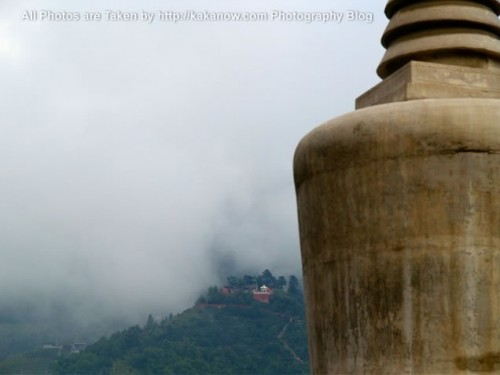 China travel, Shanxi Province, Wutai Mountain. Buddhist temple and White Tower. Photo by KaKa.