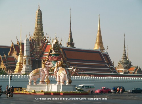 Thailand travel, Bangkok, Grand Palace and Wat Phra Kaeo. Photo by KaKa.